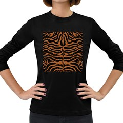 SKIN2 BLACK MARBLE & RUSTED METAL (R) Women s Long Sleeve Dark T-Shirts