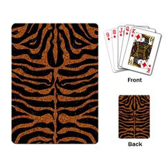 Skin2 Black Marble & Rusted Metal (r) Playing Card by trendistuff