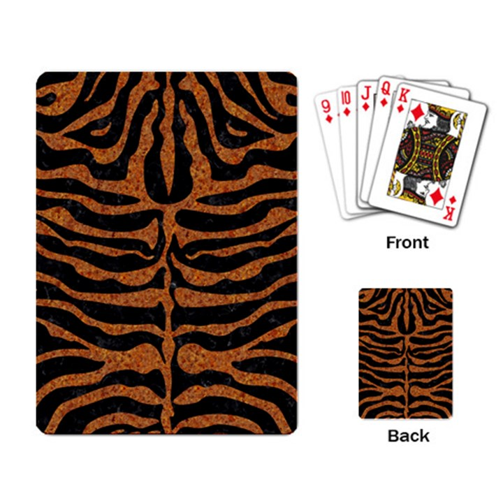 SKIN2 BLACK MARBLE & RUSTED METAL (R) Playing Card