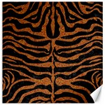 SKIN2 BLACK MARBLE & RUSTED METAL (R) Canvas 16  x 16   16 x16 Canvas - 1
