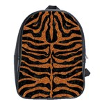 SKIN2 BLACK MARBLE & RUSTED METAL (R) School Bag (Large) Front