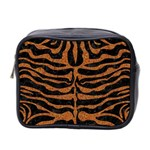 SKIN2 BLACK MARBLE & RUSTED METAL (R) Mini Toiletries Bag 2-Side Front