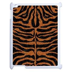 SKIN2 BLACK MARBLE & RUSTED METAL (R) Apple iPad 2 Case (White)