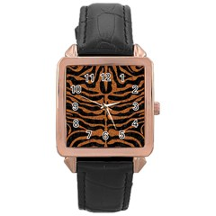 SKIN2 BLACK MARBLE & RUSTED METAL (R) Rose Gold Leather Watch