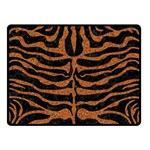 SKIN2 BLACK MARBLE & RUSTED METAL (R) Double Sided Fleece Blanket (Small)  45 x34 Blanket Back