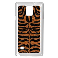 Skin2 Black Marble & Rusted Metal (r) Samsung Galaxy Note 4 Case (white) by trendistuff