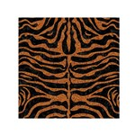SKIN2 BLACK MARBLE & RUSTED METAL (R) Small Satin Scarf (Square) Front