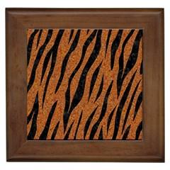 Skin3 Black Marble & Rusted Metal Framed Tiles