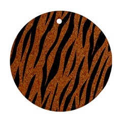 SKIN3 BLACK MARBLE & RUSTED METAL Ornament (Round)