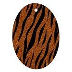 SKIN3 BLACK MARBLE & RUSTED METAL Ornament (Oval) Front