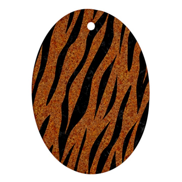 SKIN3 BLACK MARBLE & RUSTED METAL Ornament (Oval)