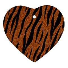 Skin3 Black Marble & Rusted Metal Ornament (heart)