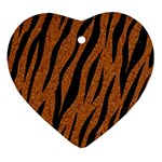 SKIN3 BLACK MARBLE & RUSTED METAL Ornament (Heart) Front