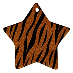 SKIN3 BLACK MARBLE & RUSTED METAL Ornament (Star)