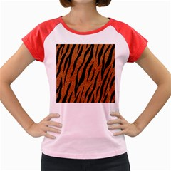 Skin3 Black Marble & Rusted Metal Women s Cap Sleeve T Shirt