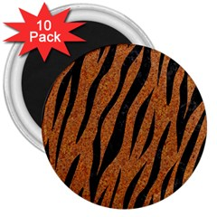 Skin3 Black Marble & Rusted Metal 3  Magnets (10 Pack)  by trendistuff