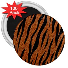 Skin3 Black Marble & Rusted Metal 3  Magnets (100 Pack) by trendistuff
