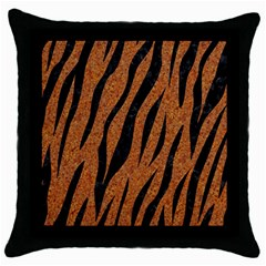 SKIN3 BLACK MARBLE & RUSTED METAL Throw Pillow Case (Black)