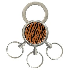 SKIN3 BLACK MARBLE & RUSTED METAL 3-Ring Key Chains