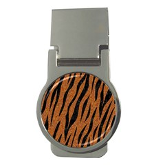 SKIN3 BLACK MARBLE & RUSTED METAL Money Clips (Round)