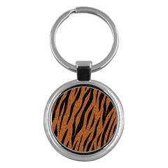 Skin3 Black Marble & Rusted Metal Key Chains (round)  by trendistuff