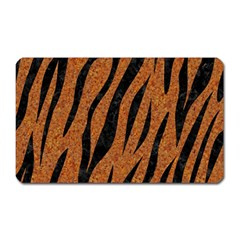 Skin3 Black Marble & Rusted Metal Magnet (rectangular) by trendistuff