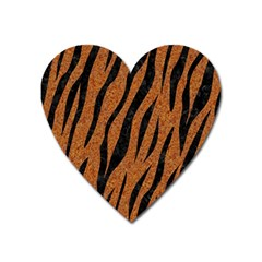 Skin3 Black Marble & Rusted Metal Heart Magnet by trendistuff