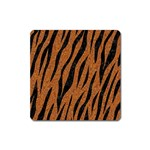 SKIN3 BLACK MARBLE & RUSTED METAL Square Magnet Front