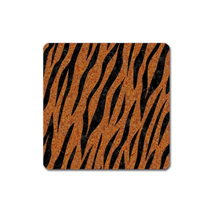 SKIN3 BLACK MARBLE & RUSTED METAL Square Magnet