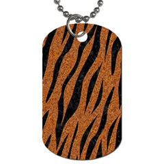 SKIN3 BLACK MARBLE & RUSTED METAL Dog Tag (One Side)