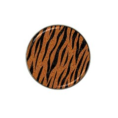 SKIN3 BLACK MARBLE & RUSTED METAL Hat Clip Ball Marker (4 pack)