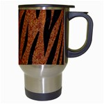 SKIN3 BLACK MARBLE & RUSTED METAL Travel Mugs (White) Right