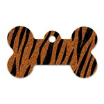 SKIN3 BLACK MARBLE & RUSTED METAL Dog Tag Bone (One Side) Front
