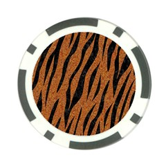 SKIN3 BLACK MARBLE & RUSTED METAL Poker Chip Card Guard