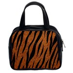 SKIN3 BLACK MARBLE & RUSTED METAL Classic Handbags (2 Sides) Front