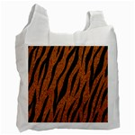 SKIN3 BLACK MARBLE & RUSTED METAL Recycle Bag (One Side) Front