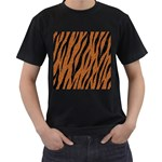 SKIN3 BLACK MARBLE & RUSTED METAL Men s T-Shirt (Black) Front