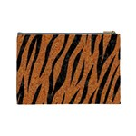 SKIN3 BLACK MARBLE & RUSTED METAL Cosmetic Bag (Large)  Back