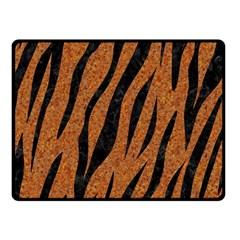 Skin3 Black Marble & Rusted Metal Fleece Blanket (small) by trendistuff