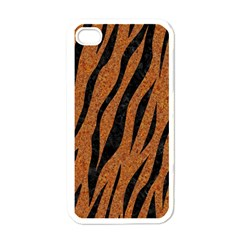 SKIN3 BLACK MARBLE & RUSTED METAL Apple iPhone 4 Case (White)