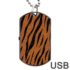 SKIN3 BLACK MARBLE & RUSTED METAL Dog Tag USB Flash (Two Sides)