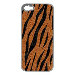 SKIN3 BLACK MARBLE & RUSTED METAL Apple iPhone 5 Case (Silver)