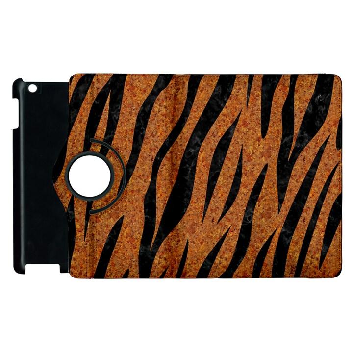 SKIN3 BLACK MARBLE & RUSTED METAL Apple iPad 2 Flip 360 Case