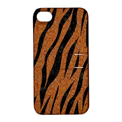 SKIN3 BLACK MARBLE & RUSTED METAL Apple iPhone 4/4S Hardshell Case with Stand