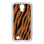 SKIN3 BLACK MARBLE & RUSTED METAL Samsung GALAXY S4 I9500/ I9505 Case (White) Front