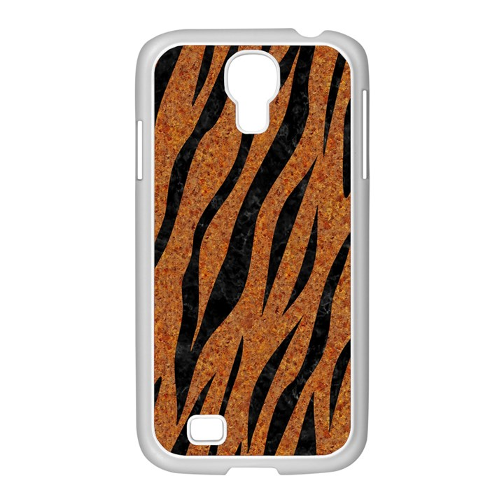 SKIN3 BLACK MARBLE & RUSTED METAL Samsung GALAXY S4 I9500/ I9505 Case (White)