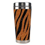 SKIN3 BLACK MARBLE & RUSTED METAL Stainless Steel Travel Tumblers Center