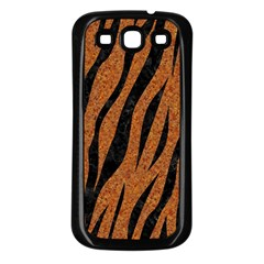 SKIN3 BLACK MARBLE & RUSTED METAL Samsung Galaxy S3 Back Case (Black)
