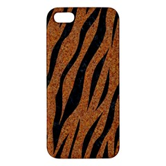 SKIN3 BLACK MARBLE & RUSTED METAL iPhone 5S/ SE Premium Hardshell Case