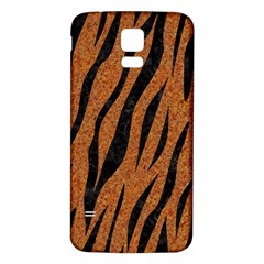 SKIN3 BLACK MARBLE & RUSTED METAL Samsung Galaxy S5 Back Case (White)